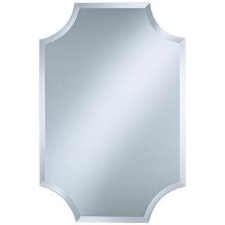 "Cut Corner Frameless 36"" High Beveled Wall Mirror   #P1634"