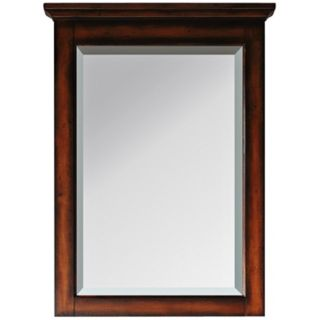 "Tropica Antique Walnut 32"" High Tall Wall Mirror   #R9019"