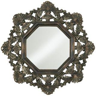 """Acanthus Leaf Octagonal 31"""" High Wall Mirror   #N5454"""