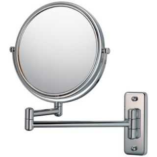 "Aptations Swing Arm Silver Chrome 7 3/4"" Wide Vanity Mirror   #50733"