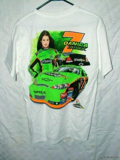 NASCAR Danica Patrick 7 Go Daddy Jr Motorsports White Shirt Chase