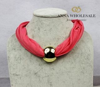 Womens Gold European Beads Charm Collar Cotton Short Pendant Necklace