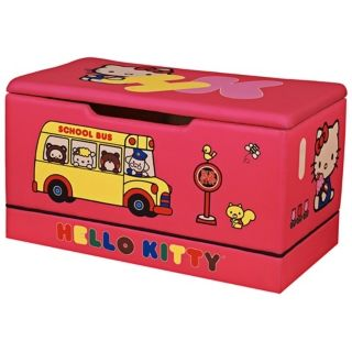 Upholstered Hello Kitty Toy Box   #W6839