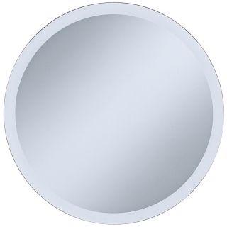 "Adonia Round Frameless 18"" Wide Beveled Wall Mirror   #P1429"