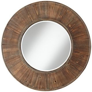 "Easton Wood Panel 31 1/2"" Distressed Wall Mirror   #W3838"