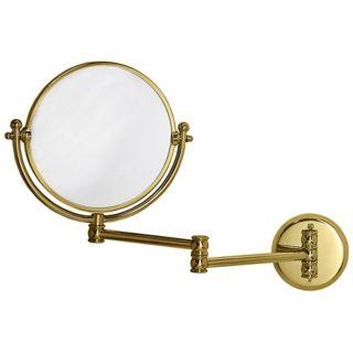 """Gatco Polished Brass 19 1/2"""" Wide Swing Arm Wall Mirror   #X6721"""