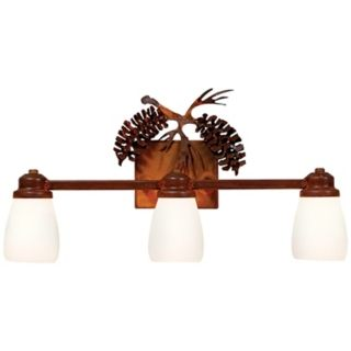 "Parkshire Collection 3D Cone 22"" Wide Bathroom Light Fixture   #J0555"