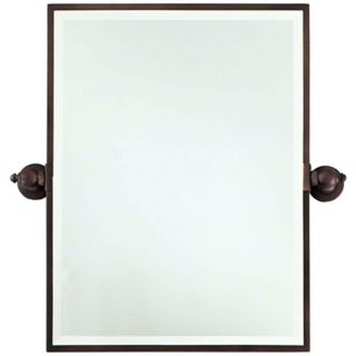 "Minka 30"" High XL Dark Brushed Bronze Bathroom Wall Mirror   #V2155"