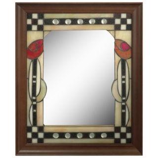 "Dale Tiffany Tulip 24"" High Art Glass Wall Mirror   #X2691"
