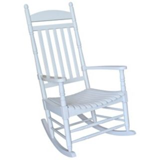 White Finish Solid Wood Rocker Chair   #T4770