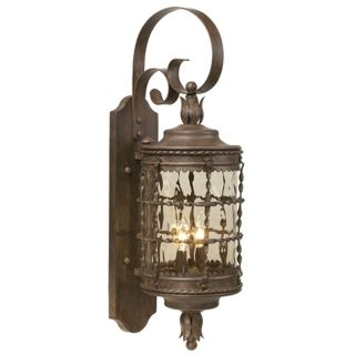 "Mallorca Collection 28 5/8"" High Vintage Rust Outdoor  Light   #34240"