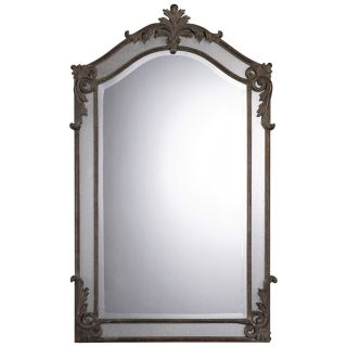 "Antique Style 48"" High Metal Frame Wall Mirror   #J6372"