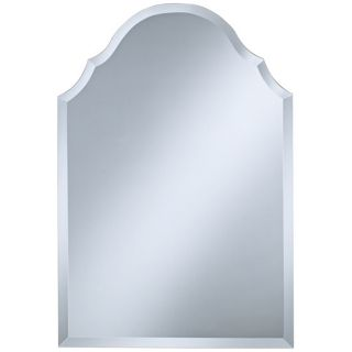 "Crown Frameless 32"" High Beveled Wall Mirror   #P1445"