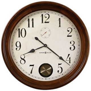 "Howard Miller Auburn 32 1/2"" Wide Cherry Wood Wall Clock   #X6060"