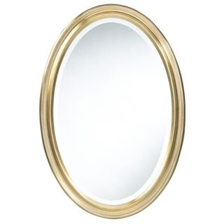 "Cooper Classics Gold Blake 31 1/2"" High Oval Wall Mirror   #U9982"