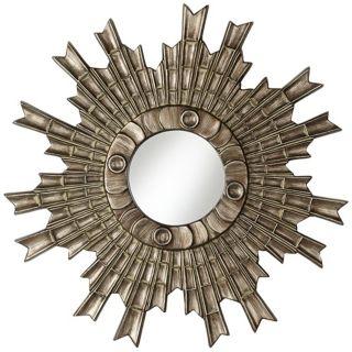 "Arraki Sunburst 33"" High Bronze Clay Wall Mirror   #W3903"