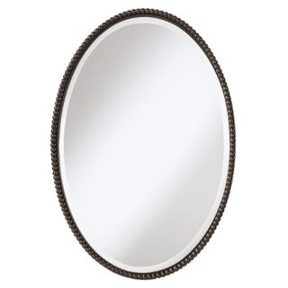 "Uttermost Sherise Bronze Beaded Oval  32"" High Wall Mirror   #15020"