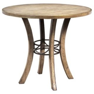 Hillsdale Charleston Round Wood Counter Height Dining Table   #V9881