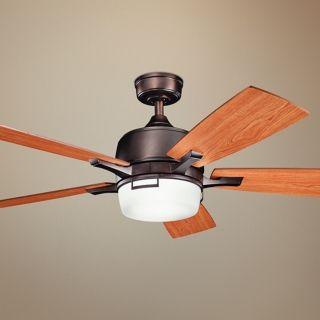 "52"" Kichler Leeds Oiled Bronze ENERGY STAR Ceiling Fan   #U5807"