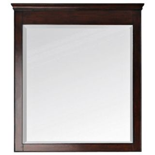 "Avanity Windsor 36"" High Walnut Wood Frame Wall Mirror   #V4887"