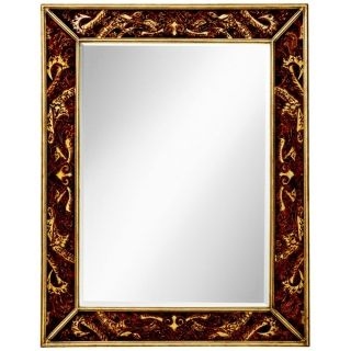 "Kichler Crimson Leaf 46"" High Hand Painted Wall Mirror   #X5871"