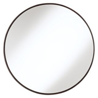 "Round Wood Trimmed 34"" Wide Wall Mirror   #91208"