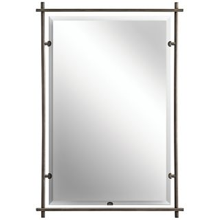 "Kichler Eileen Brushed Nickel 39"" High Wall Mirror   #P2043"