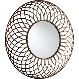 "Fairplex Bronze 39"" Wide Webbed Iron Wall Mirror   #X7213"