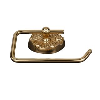 Daisy Polished Brass Euro Style Toilet Paper Holder   #08145