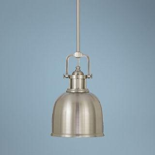 "Parker Place Solid Brushed Steel 8"" Wide Mini Pendant  Light   #J7332"
