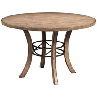 Hillsdale Charleston Desert Tan Round Wood Dining Table   #V9855
