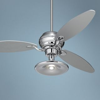 "60"" Spyder Chrome Ceiling Fan With Light Kit   #R2180 R2447 R1846"