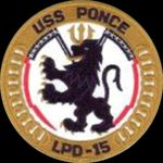 USS Ponce Proud Lion Navy SHIP Honoring City of Ponce Puerto Rico 1971