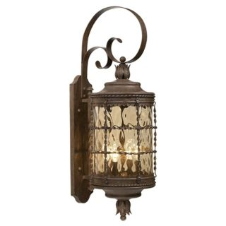 """Mallorca Vintage Rust 12 3/4"""" Wide Outdoor Ceiling Light   #65074"""