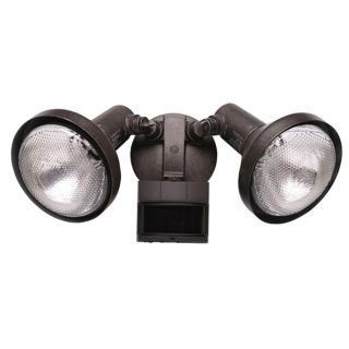 Two Light  Rustic Brown Outdoor Spotlight with Motion Sensor   #22116