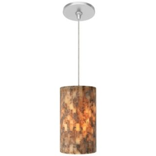 Coliseum Brown with Satin Nickel Fusion Jack Mini Pendant   #M9282 47250