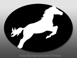 Oval Horse Jumping Sticker   Decal Horses Jump Quarter