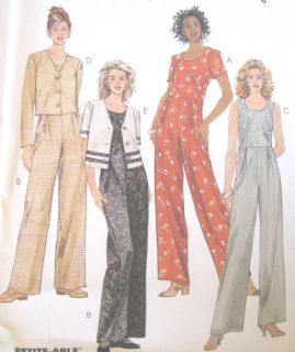 Unlined Boxy Jacket Jumpsuit Sewing Pattern Contrast Bands Darts 8644