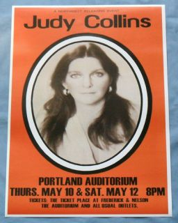 Judy Collins Concert Poster Portland True Stories and Other Dreams