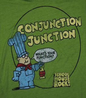 Schoolhouse Rock Green Conjunction Junction Classic Cartoon Soft