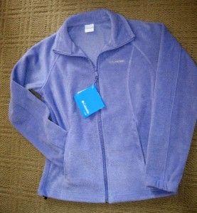 Womens Columbia June Lake Blue Iris Purple Grape Full Zip Front Fleece