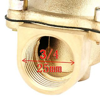 USD $ 44.69   0.75 Inch 12V DC Electric Solenoid Valve for Air Water