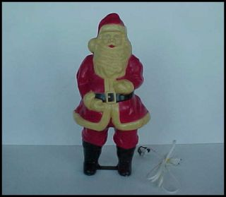 Vintage Hard Plastic Illuminated Santa Claus Christmas 17 Electrified