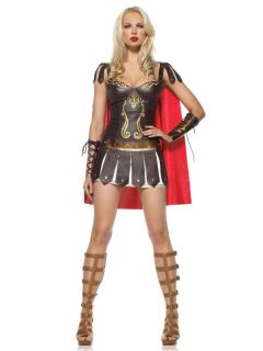 Sexy Warrier Princess Xena Roman Gladiator Womens Halloween Costume