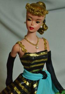 OOAK Vintage Blonde 1963 6 Ponytail Barbie Doll Repaint by