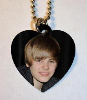 Justin Bieber 138 Photo Charm Heart Pendant Necklace