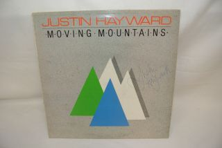 Justin Hayward Moving Mountains Signed Autographed Record Vinyl LP
