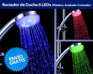 Review en oferta de Rociador de Ducha 6 LED (Plástico, Acabado