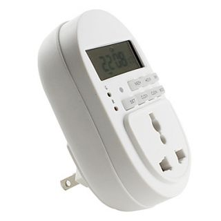 USD $ 17.19   US 3 Pin Plug Energy Saving Electrical Timer (110V 10A
