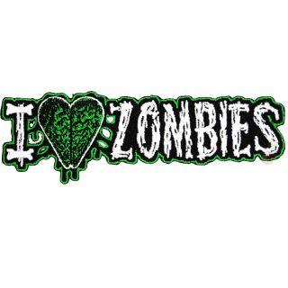 Kreepsville 666 I Heart Zombies Patch Tattoo Rockabilly Punk Dead Pin